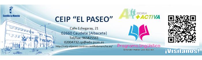 """Marcapáginas - CEIP """"El Paseo"""" Caudete (Albacete)"""